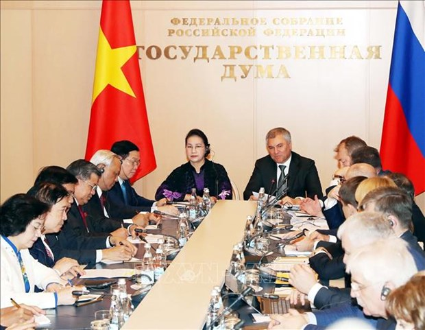 Vietnam, Russia hold first inter-parliamentary committee meeting hinh anh 1