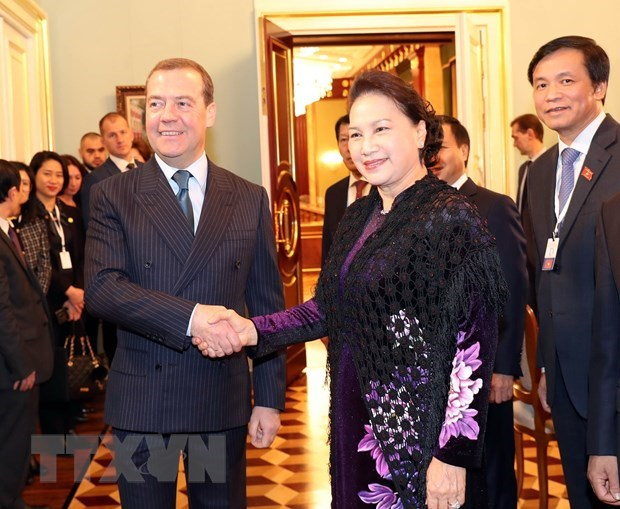 NA leader's visits give strong boost to ties with Russia, Belarus hinh anh 1