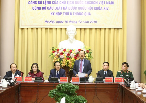 Presidential Office announces newly adopted laws hinh anh 1
