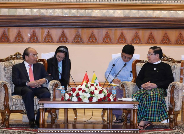 PM calls for stronger Vietnam-Myanmar parliamentary ties hinh anh 1