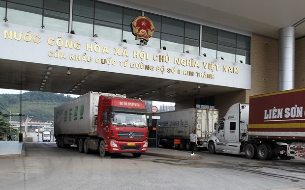 Vehicles to be banned through Lao Cai-Hekou border gate hinh anh 1