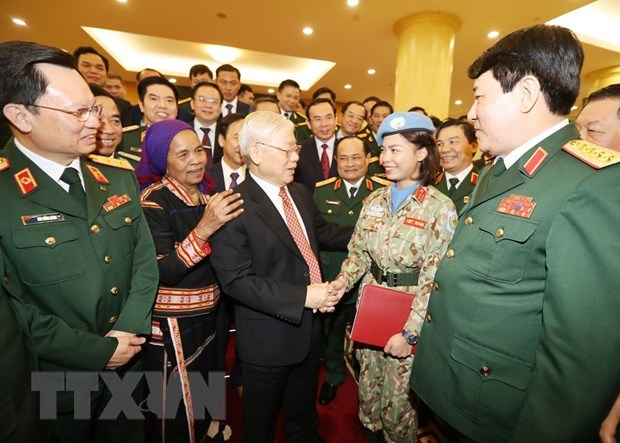"""Party leader urges army to lead in preventing """"self-evolution"""" hinh anh 1"""