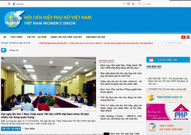 Vietnam Women's Union launches web portal hinh anh 1