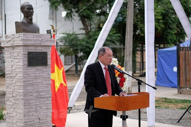 Ho Chi Minh Park upgraded in Chile hinh anh 1