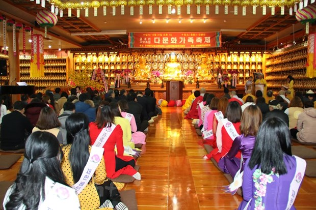 Vietnamese Buddhist followers in RoK celebrate upcoming New Year hinh anh 1