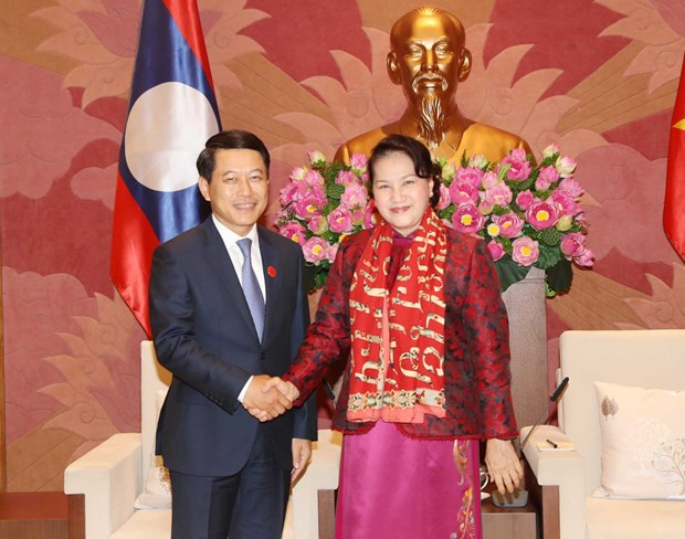 National Assembly Chairwoman receives Lao Foreign Minister hinh anh 1