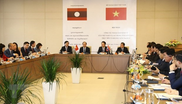 Workshop talks Vietnam-Laos economic diplomacy hinh anh 1