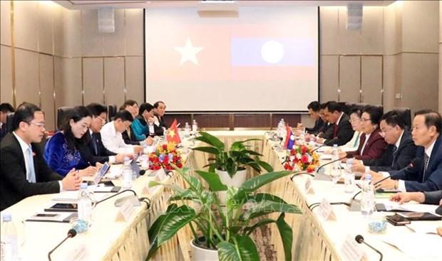 Vietnamese, Lao legislatures step up cooperation in ethnic affairs hinh anh 1