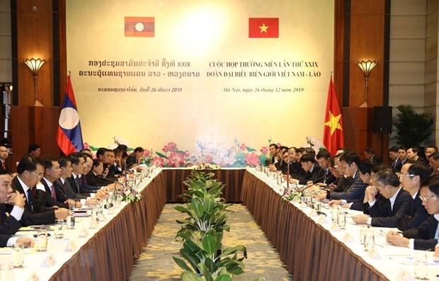 Annual Vietnam – Laos border meeting held in Hanoi hinh anh 1