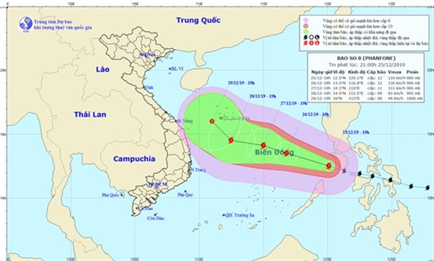 Typhoon Phanfone enters East Sea hinh anh 1