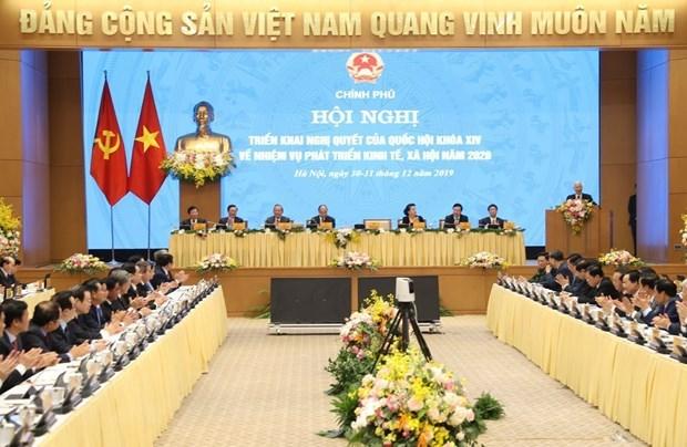 Gov't outlines draft resolution for 2020 socio-economic development hinh anh 1