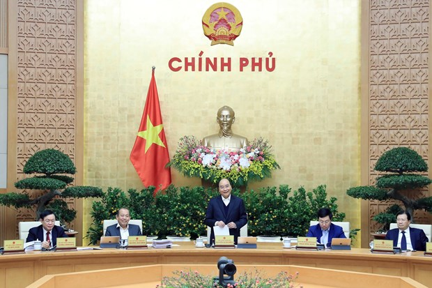 Year-end cabinet meeting focuses on institution, law building hinh anh 1