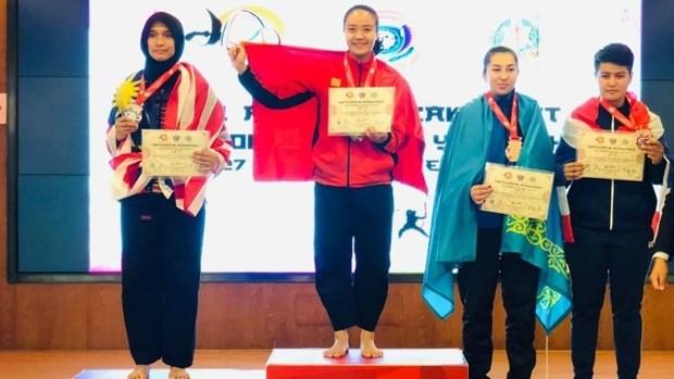 Vietnamese athlete wins gold medal at Asian Pencak Silat Championship hinh anh 1
