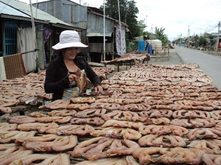 Mekong Delta craft villages get busy for Tet hinh anh 1