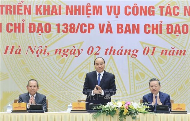Prime Minister orders intensifying fight against crime, smuggling, fraud hinh anh 1