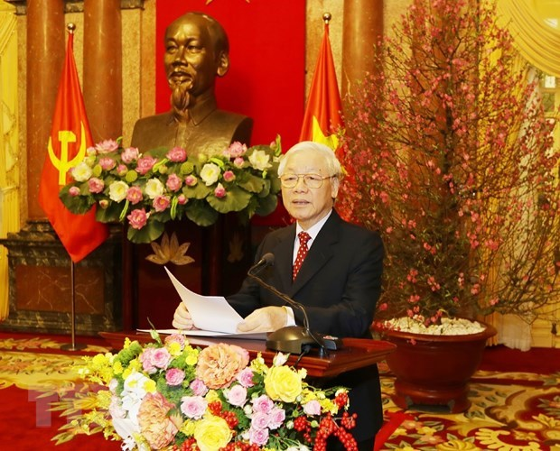 Top leader pins high hope on prosperous Vietnam hinh anh 1