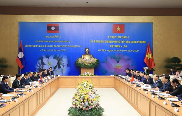 42nd meeting of Vietnam-Laos Inter-governmental Committee convenes in Hanoi hinh anh 1