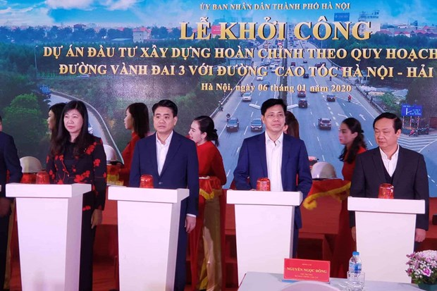 Construction of interchange linking key roads begins hinh anh 1