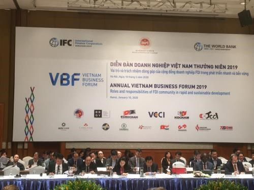 Vietnam Business Forum 2019 opens in Hanoi hinh anh 1