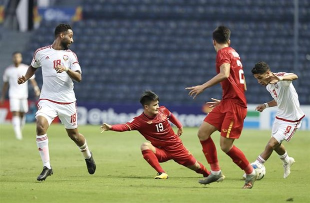 Vietnam have goalless draw with UAE in AFC U23 champs hinh anh 1
