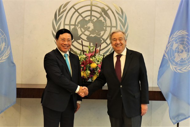 UN leaders, countries highly value Vietnam's international stature hinh anh 1