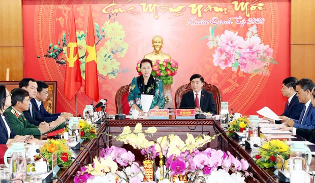 NA Chairwoman works with Dak Lak province's leaders hinh anh 1