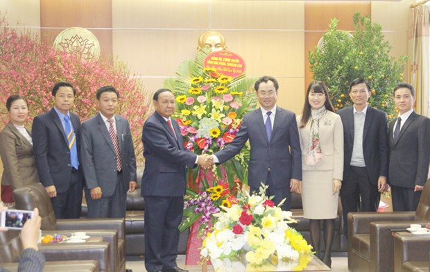 Lao delegation pays pre-Tet visit to Thai Nguyen hinh anh 1