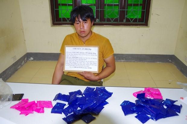 Trafficker of 10,000 drug pills arrested in Dien Bien hinh anh 1