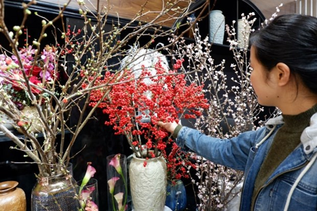Expensive imported flowers a hot item for Tet hinh anh 1