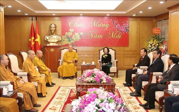 Mass mobilisation head urges Buddhists to strengthen national unity hinh anh 1