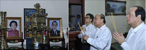 PM pays tribute to late Party, State leaders ahead of Tet hinh anh 1