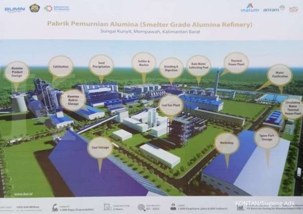 Indonesia, China sign deal for alumina refinery hinh anh 1