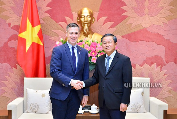 NA Vice Chairman welcomes guests from US House Committee on Armed Services hinh anh 1