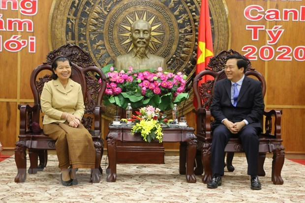 Cambodian Deputy Prime Minister pays Tet visit to Long An hinh anh 1