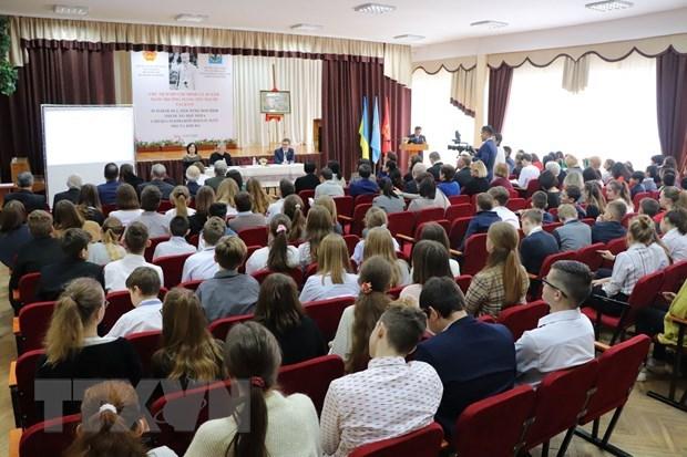 Workshop on President Ho Chi Minh held in Ukraine hinh anh 1
