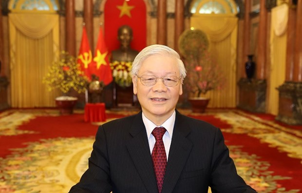 Leaders of Vietnam, Russia exchange congratulations on diplomatic ties hinh anh 1