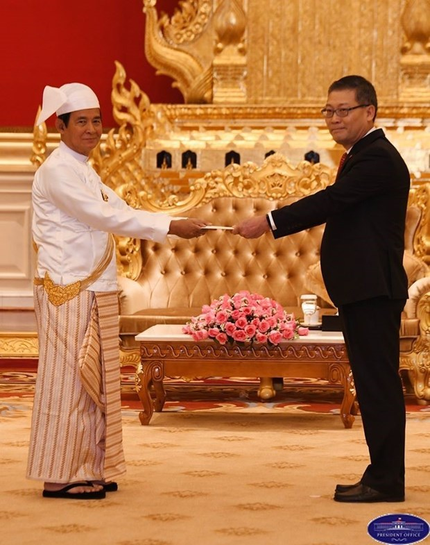 Myanmar President lauds sound relations with Vietnam hinh anh 1