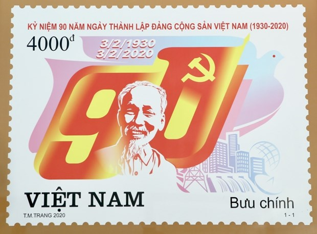 Stamp launched to mark Party's 90th founding anniversary hinh anh 1