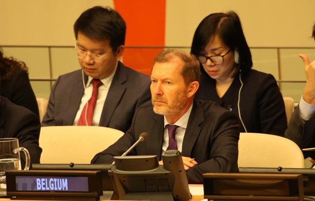 Foreign diplomats congratulate VN on fulfilling role of UNSC President hinh anh 1