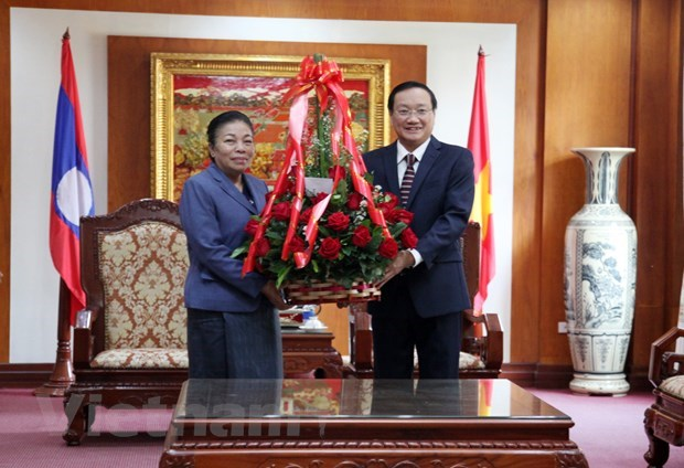 Laos proud at achievements of Communist Party of Vietnam: Lao officials hinh anh 1