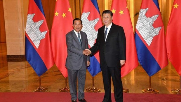 Chinese President pledges to encourage investment in Cambodia hinh anh 1