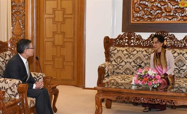 Myanmar State Counsellor highlights importance of ties with Vietnam hinh anh 1