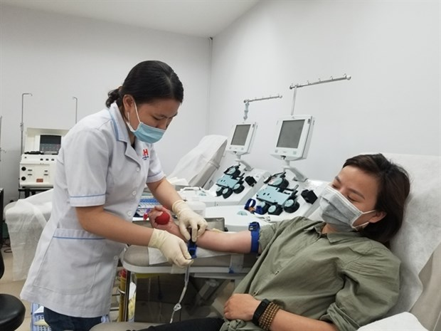 Young people in HCM City call on peers to donate blood hinh anh 1