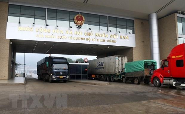 Customs clearance resumed at Lao Cai border gate hinh anh 1