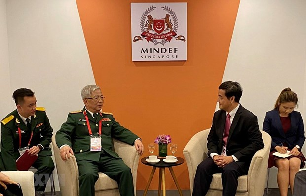 Vietnam consults Singapore about ASEAN defence activities hinh anh 1