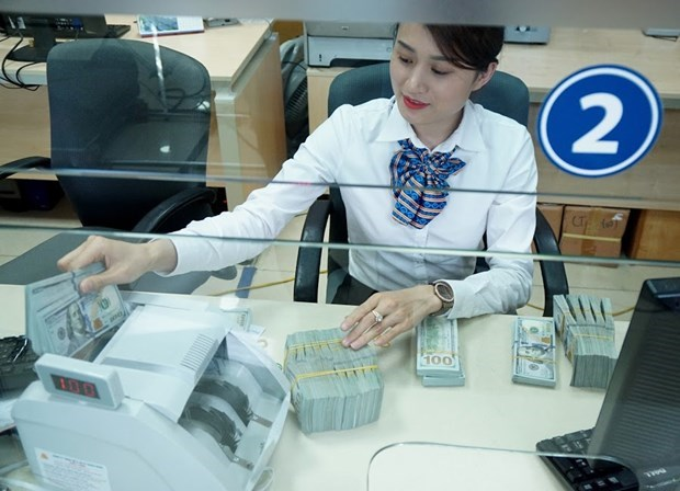 Reference exchange rate down 2 VND on February 13 hinh anh 1