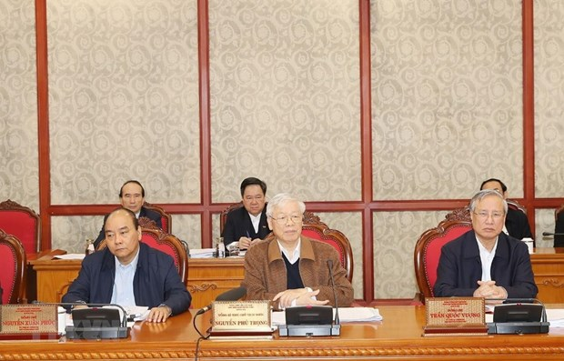Politburo gives opinions to 13th National Party Congress's documents hinh anh 1