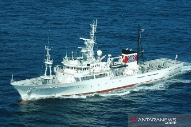 Japan delivers fishery patrol vessel to Indonesia hinh anh 1