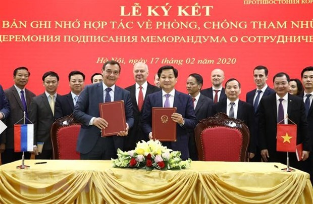 Vietnam, Russia upgrade anti-corruption cooperation hinh anh 1