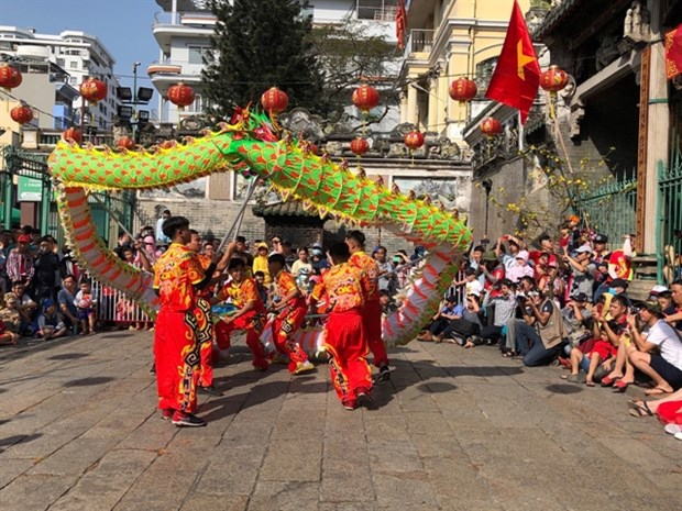 HCM City launches 3rd International Dragon Dance festival hinh anh 1